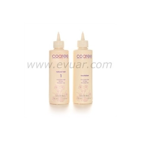 COTRIL - COAREE - WAVE AMMONIA FREE - Natural hair 1 - Waving lotion (90ml) Neutralizer (100ml)