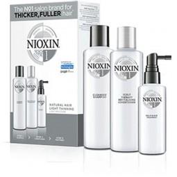 NIOXIN -SISTEMA 1 - KIT COMPLETO - Shampoo (150ml) - Balsamo (150ml) Treatment (50ml)