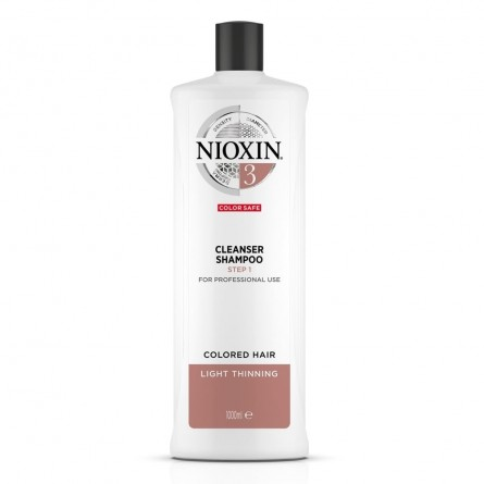 NIOXIN - 3 CLEANSER SHAMPOO - COLORED HAIR LIGHT THINNING (1Litro)