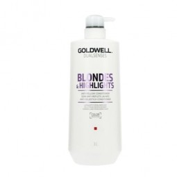 GOLDWELL - DUALSENSES - BLONDES & HIGHLIGHTS - Anti-yellow Conditioner (1Litro) Balsamo anti ingiallimento