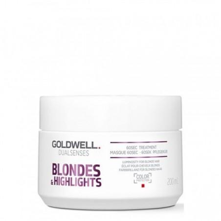 GOLDWELL - DUALSENSES - BLONDES & HIGHLIGHTS - 60sec treatment (200ml) Trattamento capelli biondi