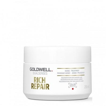 GOLDWELL - DUALSENSES - RICH REPAIR - 60sec Treatment (200ml) Trattamento Capelli Secchi