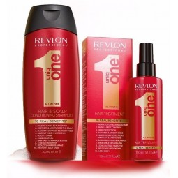 REVLON PROFESSIONAL - UNIQ ONE - KIT - HAIR TREATMENT Shampoo+balsamo