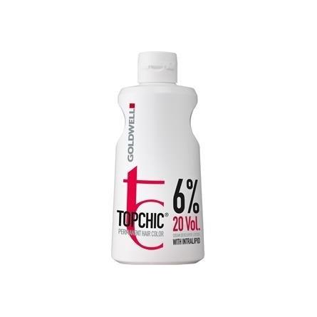 GOLDWELL - TOPCHIC - PERMANENT HAIR COLOR - CREAM DEVELOPER LOTION 6% 20 VOL. (1000ml) Crema