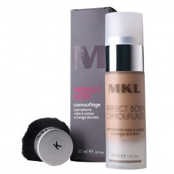 MKL MAKEUP - PERFECT BODY CAMOUFLAGE + PENNELLO K - G1 Chiaro Medio (30ml) Correttore viso e corpo