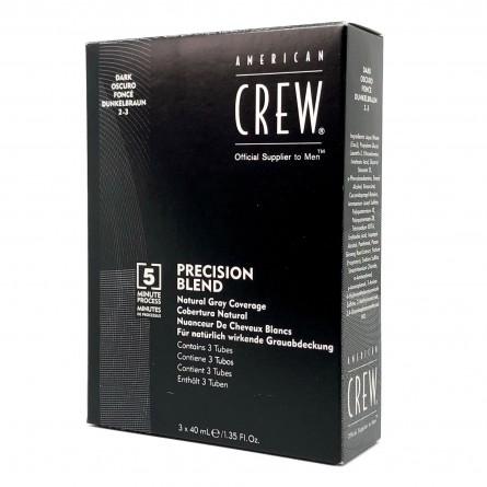 AMERICAN CREW - CLASSIC - PRECISION BLEND - Castano Scuro 2-3 Dark (3 x 40ml) Colorazione per capelli