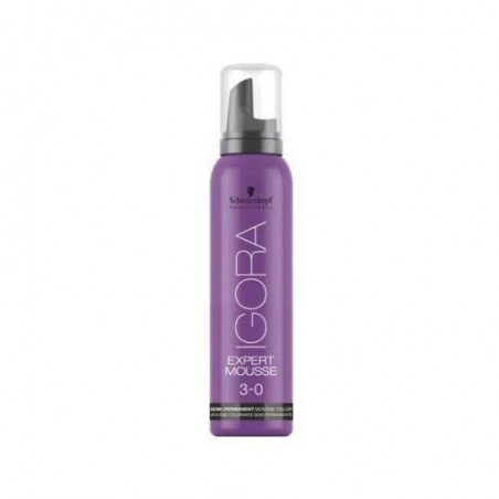 SCHWARZKOPF PROFESSIONAL - IGORA - EXPERT MOUSSE 3.0 - Dark Brown (100ml) Mousse colore