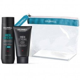 Goldwell - Kit Travel Dualsenses Men - Hair & Body + Styling Power Gel