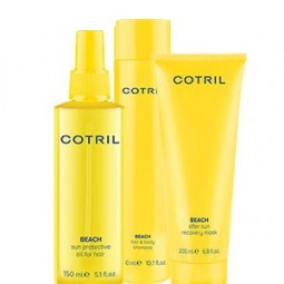 COTRIL - BEACH - KIT Sun Protective Oil - Hair & Body Shampoo e After Sun Recovery Mask