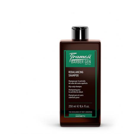 FRAMESI - BARBER GEN - REBALANCING SHAMPOO (250ml) Shampoo per capelli grassi