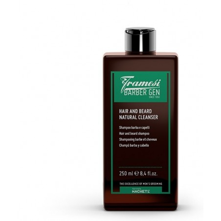 FRAMESI - BARBER GEN - HAIR AND BEARD NATURAL CLEANSER (250ml) Shampoo barba e capelli