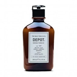 DEPOT - No. 107 WHITE CLAY SEBUM CONTROL SHAMPOO (250ml) Shampoo anti grasso