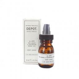 DEPOT - No. 403 PRE-SHAVE & SOFTENING BEARD OIL (30ml) Olio pre-rasatura