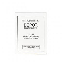DEPOT - No. 504 BEARD & MOUSTACHE CLEANSING WIPES 12 salvettine
