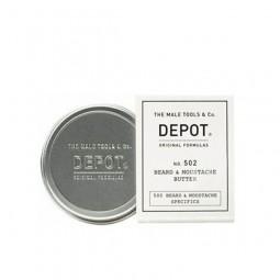 DEPOT - No. 502 BEARD & MOUSTACHE BUTTER (30ml) Burro nutriente per barba