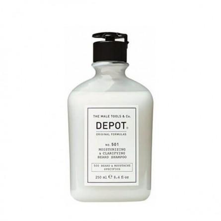 DEPOT - No. 501 MOISTURIZING & CLARIFYING BEARD SHAMPOO (250ml) Shampoo idratante per la barba
