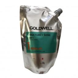 GOLDWELL - STRUCTURE + SHINE 1 REGULAR (400g) Stiratura per capelli naturali da normali a fini