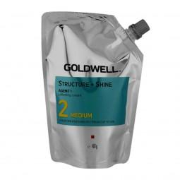 GOLDWELL - STRUCTURE + SHINE 2 MEDIUM (400g) Stiratura per capelli colorati