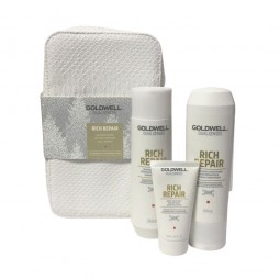 GOLDWELL - DUALSENSES - RICH REPAIR - KIT Shampoo riparatore, Conditioner, Treatment